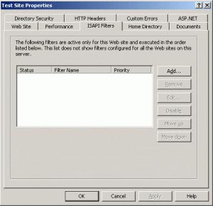 Website Filter Properties
